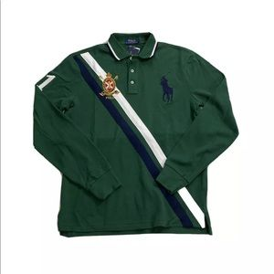 Polo Ralph Lauren Gold Crest Mesh L/S Polo Shirt